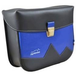 Sacoches couleur noir mat/bleu roi (la paire)