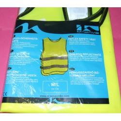 Gilet/veste sécurité jaune fluo