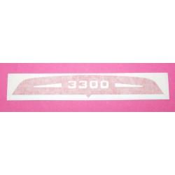 Autocollant bandeau coiffe / capot de filtre à air solex 3300