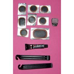"""Kit de réparation de crevaisons/rustine """"ZEFAL"""" avec 2 démonte-pneus (La boite)"""