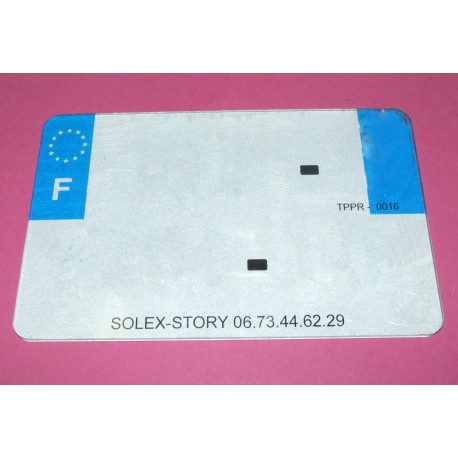 plaque immatriculation solex plexi cyclo mobylette moto dijon. Black Bedroom Furniture Sets. Home Design Ideas