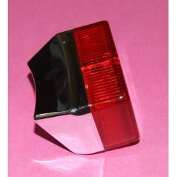 Feu rouge arrière type Luxor 75 Chromé / Rouge pourMotobécane Motoconfort MBK Peugeot