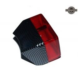 Feu rouge arrière type Luxor 75 Carbone / Rouge pour Motobécane Motoconfort MBK Peugeot