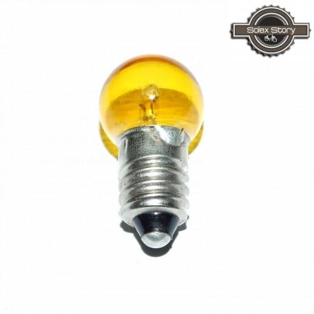 Ampoule à vis AV jaune 6V 6W