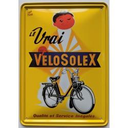 """Plaque publicitaire """"Le Vrai Vélosolex"""" (15x21cm)"""