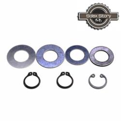 Lot circlips & rondelles de poulie pour Motobécane / Motoconfort / MBK (AV7 & AV10)